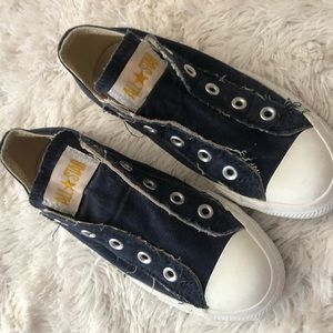 Unisex slip on all star navy converse